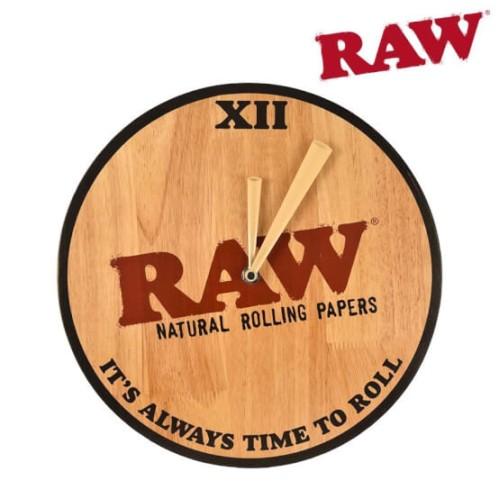 Ceas de perete RAW - bambus