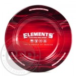 13564 Scrumiera metalica ELEMENTS RED - magnet