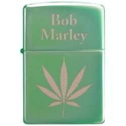 151540 Bricheta Zippo Bob Marley Green Leaf