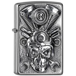 180045 Brichete Zippo Engine Skull