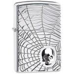 151597 Brichete Zippo Spiderweb Skull