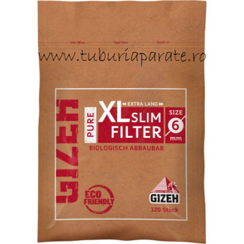 Filtre Tigari Gizeh Pure Slim Long