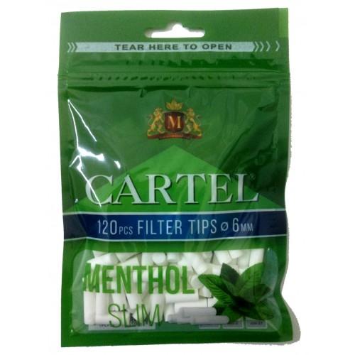 Filtre Tigari Cartel Menthol Slim 6/15 mm