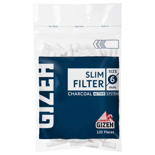 Filtre Tigari Gizeh Slim Carbon 6/15 mm