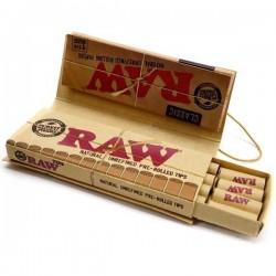 Foite rulat tutun RAW 1 1/4 + Prerolled Tips