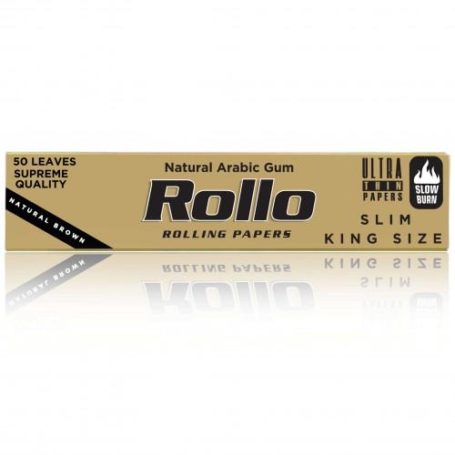 Foite rulat tutun Rollo Brown King Size Slim