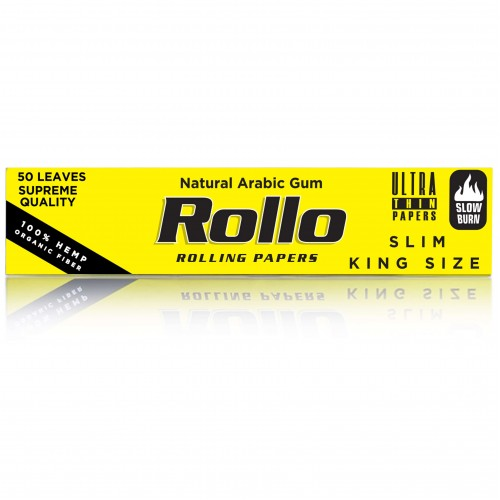 Foite rulat tutun Rollo Yellow King Size Slim