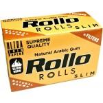 Foite Rollo Slim Brown Rola + Filter Tips (4 m)