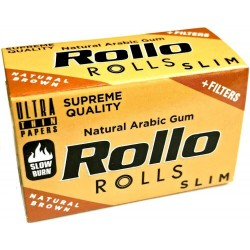 Foite Rollo Slim Brown Rola + Filter Tips (4 m)