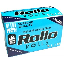 Foite Rollo Slim Blue Rola + Filter Tips (4 m)