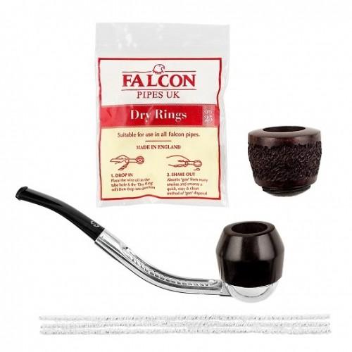 356040 Set Pipa Falcon Silver Bent