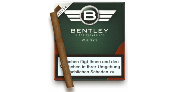 tigari de foi bentley filter cigarillos whisky 20