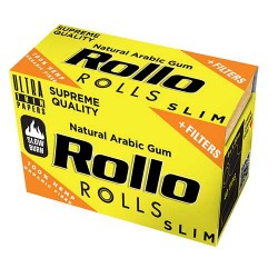 Foite Rollo Slim Yellow Rola + Filter Tips (4 m)