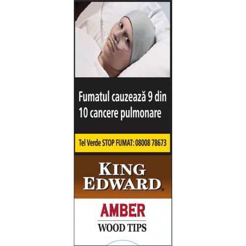 Tigari de Foi King Edward Wood Tips Amber - vanilla 5