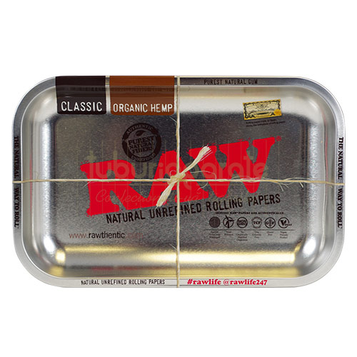 13924 Rolling Tray RAW Steel Small (27,5 x 17,5 cm)